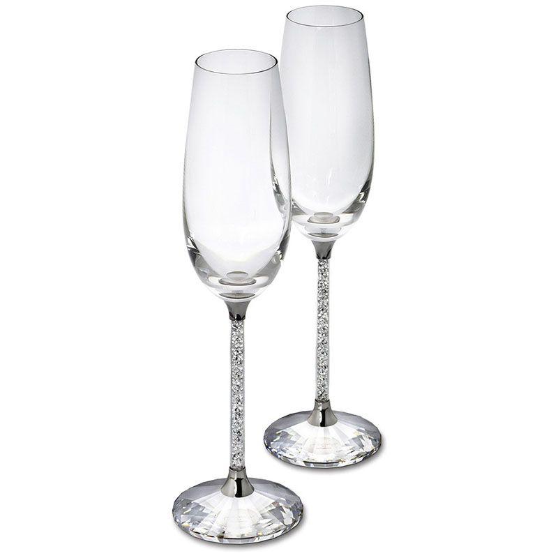 250 ML 2 pcs Flûtes à Champagne Vin Verre Cristallin De Luxe De Noce Grillage Lunettes Gobelet Cristal Strass Conception H1003