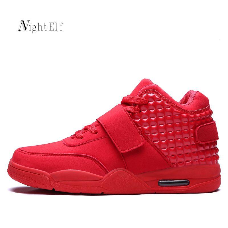 Night Elf zapatos deportivos hombres de alta calidad hombres zapatillas breathable Air Mesh zapatos corrientes 2016 hombres de invierno fondo rojo caliente