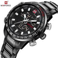 NAVIFORCE лучший бренд класса люкс мужские часы модные повседневные спортивные наручные часы водостойкие Дата часы армейские военные Relogio Masculino