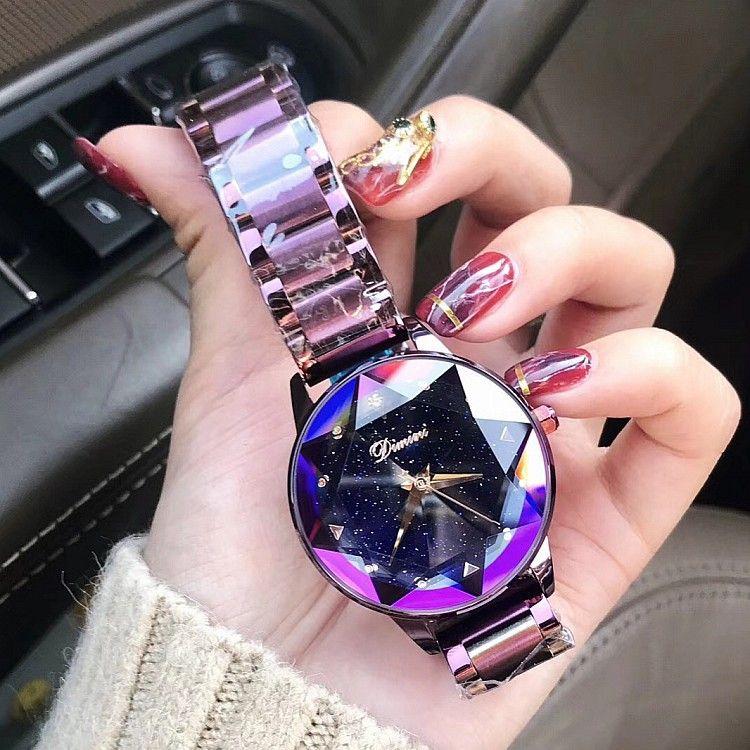 2018 Top Luxus Marke dame Kristall Uhr Frauen Kleid Uhr Mode Rose Gold Quarz Uhren Weibliche Edelstahl Armbanduhren