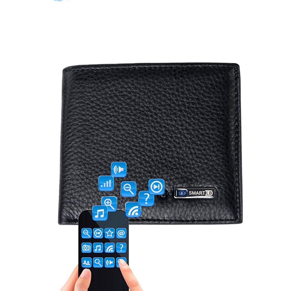 Portefeuille Intelligent hommes en cuir véritable de haute qualité Anti perdu Intelligent Bluetooth sac à main hommes porte-cartes costume pour IOS, Android