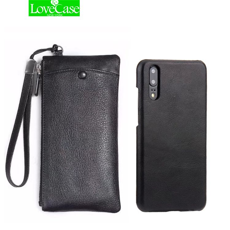 LoveCase Real Leather Wallet + Back Cover Case For huawei P20 Luxury Genuine Leather Back Cover For huawei P20 Pro bag&cases