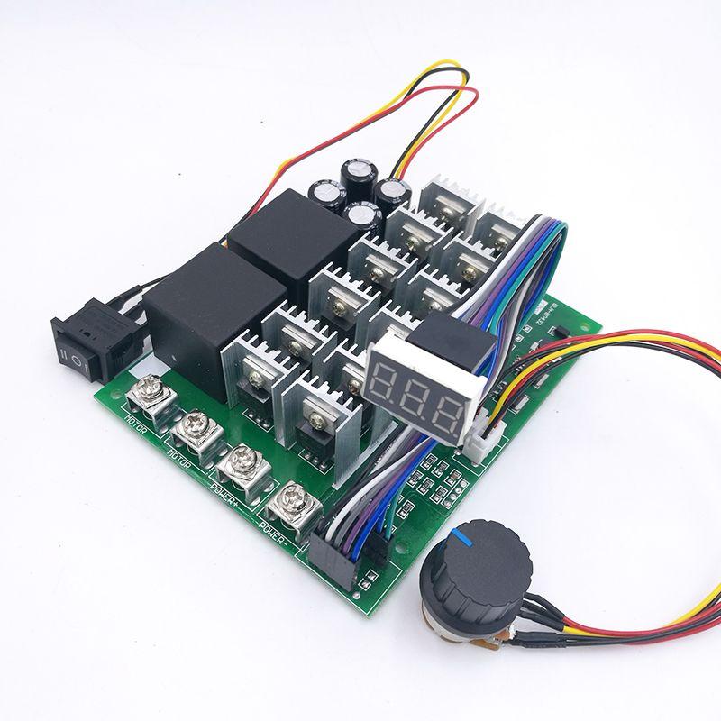 60A 10-55V Digital display PWM speed controller module forward reversal 0~100% adjustable DC motor 12V 24V 36V 48V MAX 100A