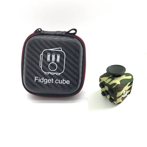 High Quality 1pcs Fidget Cube Original with Zipper Case Puzzles Magic Toys for Birthday Gift with Clickable Ball