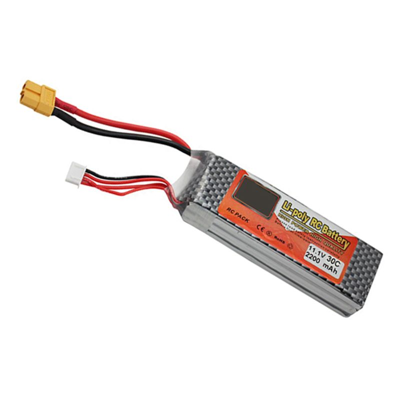 Lithium Polymer Lipo Battery 11.1V 2200Mah 3S 30C XT60 For RC Helicopter Qudcopter Drone Truck Car Boat Bateria