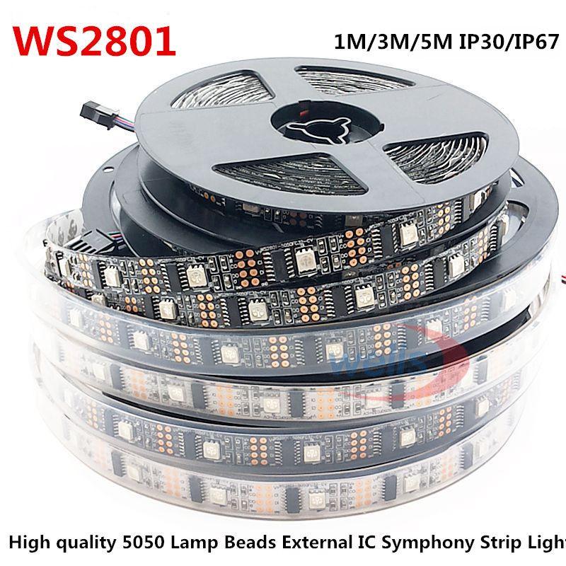 LED WS2801 32 LED s/m 5050 RBG DC5V 1 M/3 M/5 M IP30IP67 décoration adressable LED bande étanche Arduino développement ambilight TV