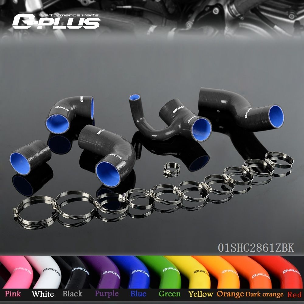 5 pieces/lot Silicone Boost Turbo Hose Kit For Volvo 850 T-5/T-5R 1993-1997 S70/V70 T5 2.3L