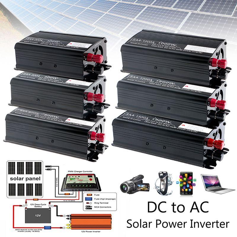 Solar Power Inverter 3000W Peak 12V DC To 230V AC Modified Sine Wave Converter Auto Inverters push-pull 300W/500W/1000W/1500W