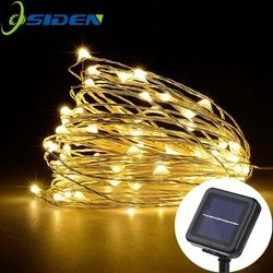 OSIDEN LED Solar String lamp Fairy Light Christmas Lights 10M 100 LED 5m 50led Copper Wire Xmas Wedding Party Decor Lamp Garland