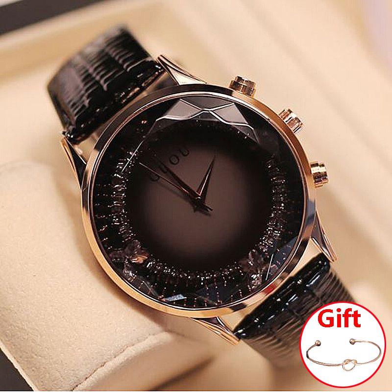 GUOU Ladies Watch Fashion Relogio Feminino Bracelet Women's Watches For Women Watches Luxury Diamond Clock reloj mujer saat