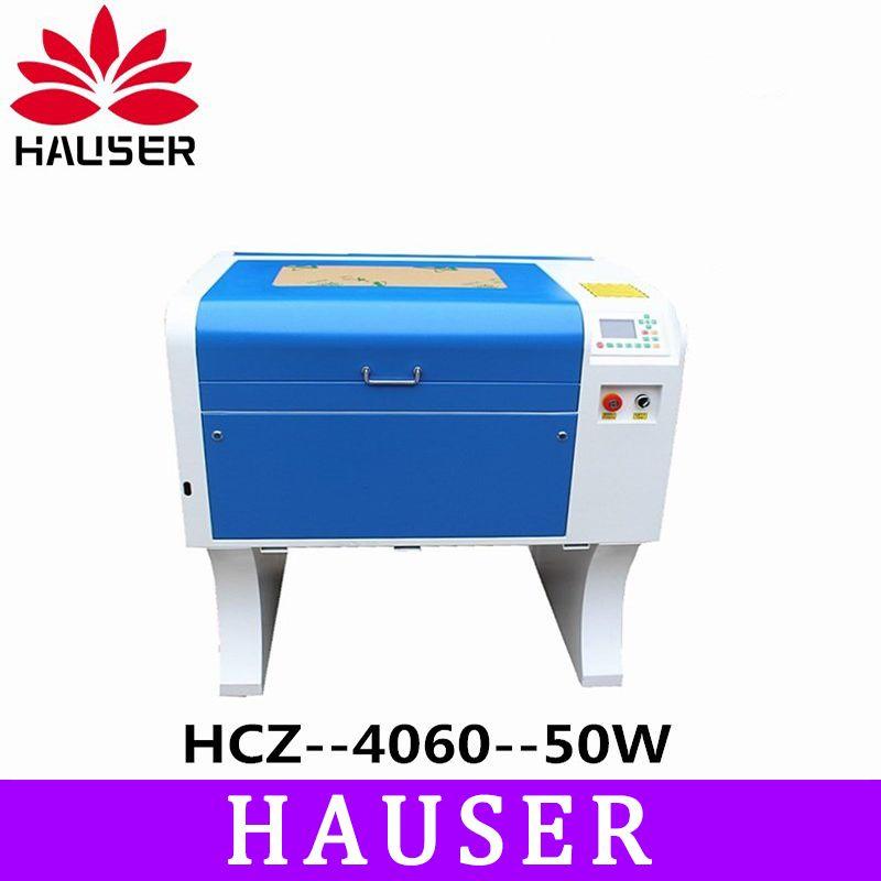 Freies Verschiffen HCZ 50w co2 laser CNC 4060 laser gravur cutter maschine laser kennzeichnung maschine mini laser engraver cnc router diy