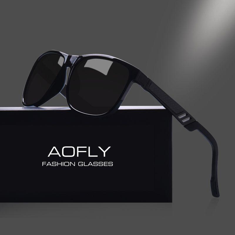 AOFLY Klassischen Männer Polarisierte Sonnenbrille Vintage Marke Design Polaroid HD Objektiv Sonnenbrille Außenvierkant Schutzbrillen AF8038