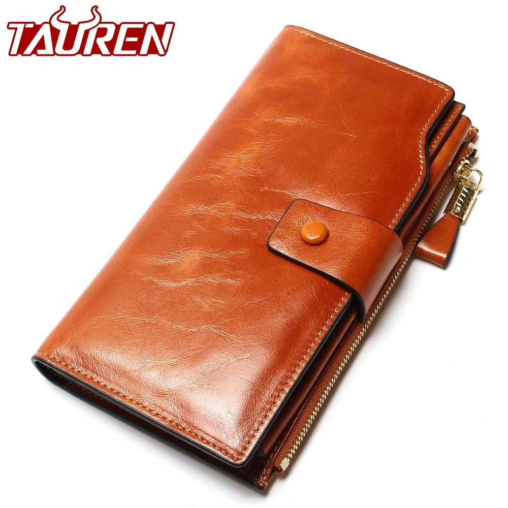 2018 New Design <font><b>Fashion</b></font> Multifunctional Purse Genuine Leather Wallet Women Long Style Cowhide Purse Wholesale And Retail Bag