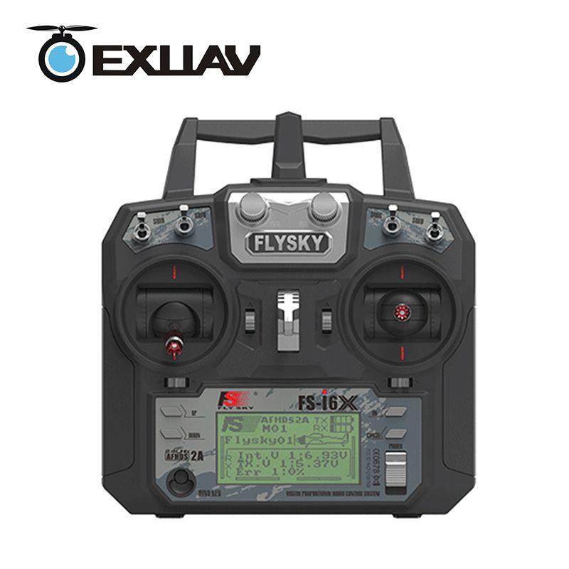 EXUAV Flysky FS-i6X 2.4GHz 10CH RC Transmitter Controller With i-BUS Receiver For RC Heli Quadcopter Airplane