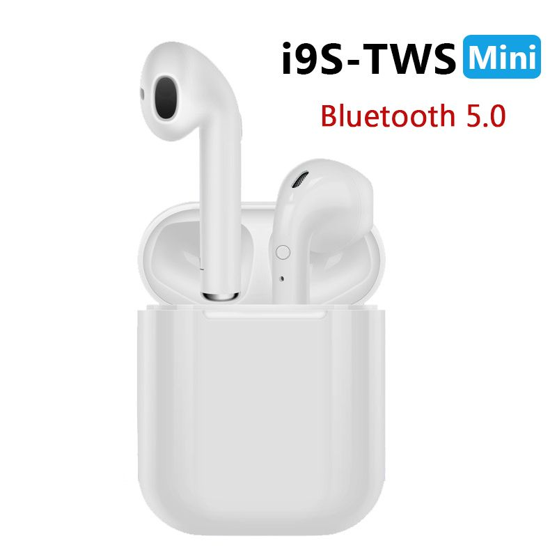 New i9S TWS Mini Bluetooth Earphones Wireless Headset Headphones Bluetooth 5.0 Stereo Sports Earbuds with Mic for Phone Andorid