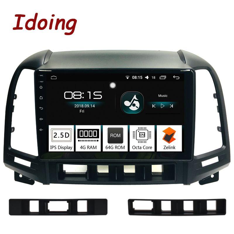 Idoing 9 2.5D IPS Bildschirm Auto Android 8.0 Radio Multimedia Player Fit Hyundai SANTA FE 2007-2011 4g + 64g Octa Core GPS Navigation