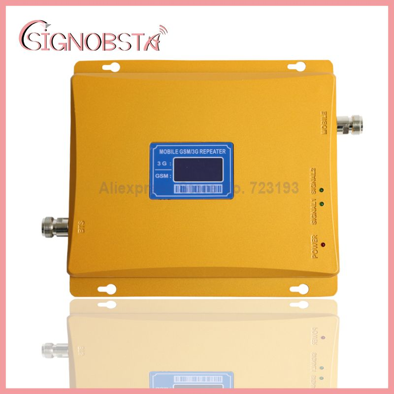 High gain dual band 900 2100 repeater für handy gsm900mhz 3G wcdma2100 UMTS zellulären booster verstärker mit adapter auf verkauf