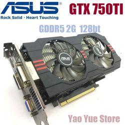 Asus GTX-750TI-OC-2GB GTX750TI GTX 750TI 2G D5 DDR5 128 Bits PC De Bureau Cartes Graphiques PCI Express 3.0 ordinateur Vidéo carte