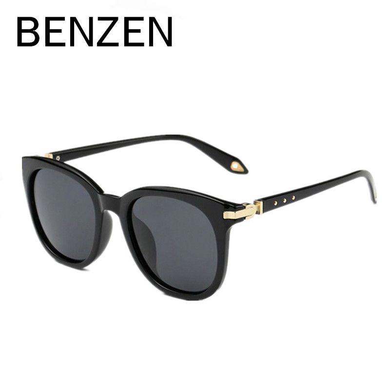 BENZEN Polarized Sunglasses Women Brand Designer Vintage Female Sun Glasses Ladies Shades Driving Glasses Black  With Case 6220