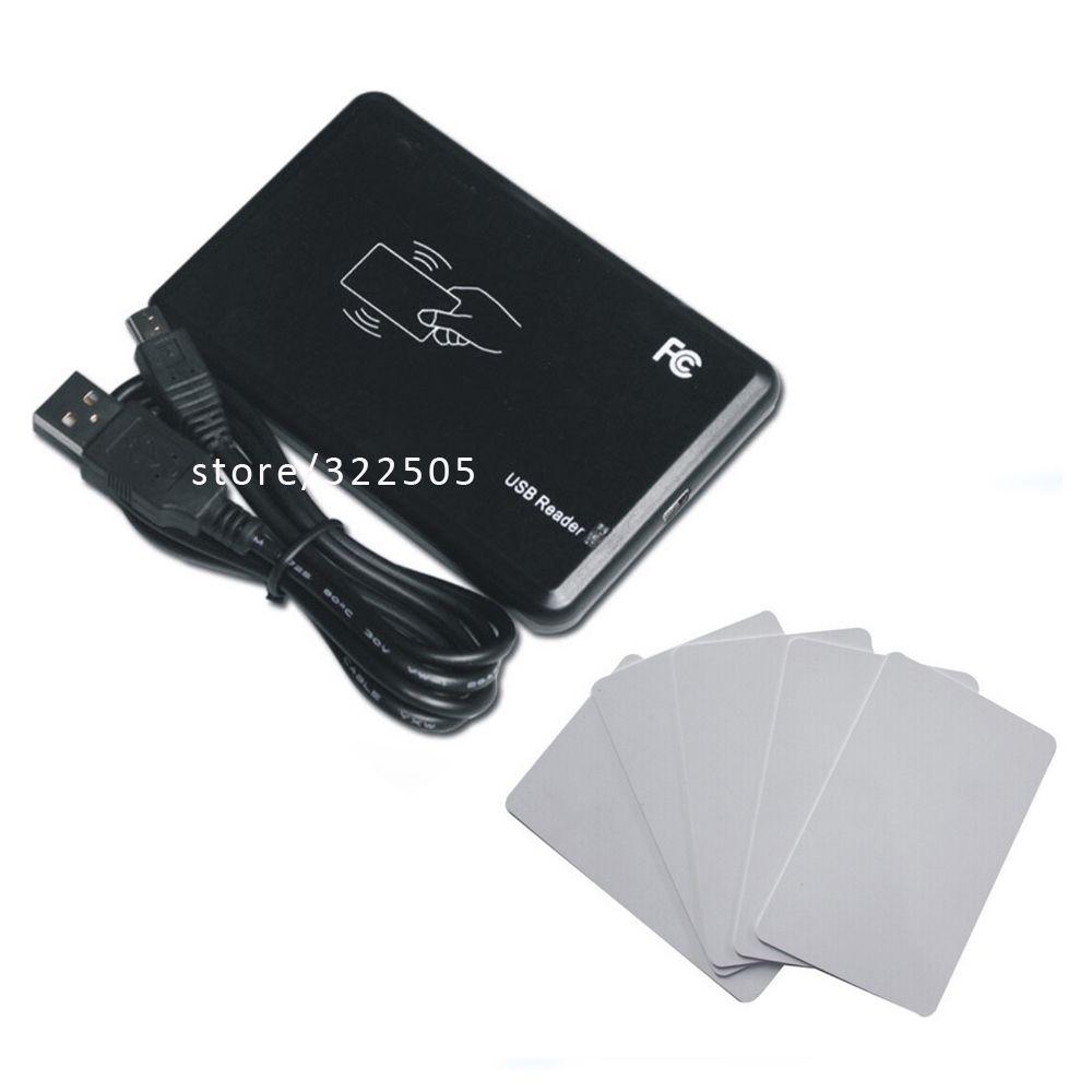 Livraison gratuite 15 style format de sortie USB port 125 KHz Fréquence Lecteur RFID de contrôle d'accès + 10 pièces cartes + (logiciel de configuration)