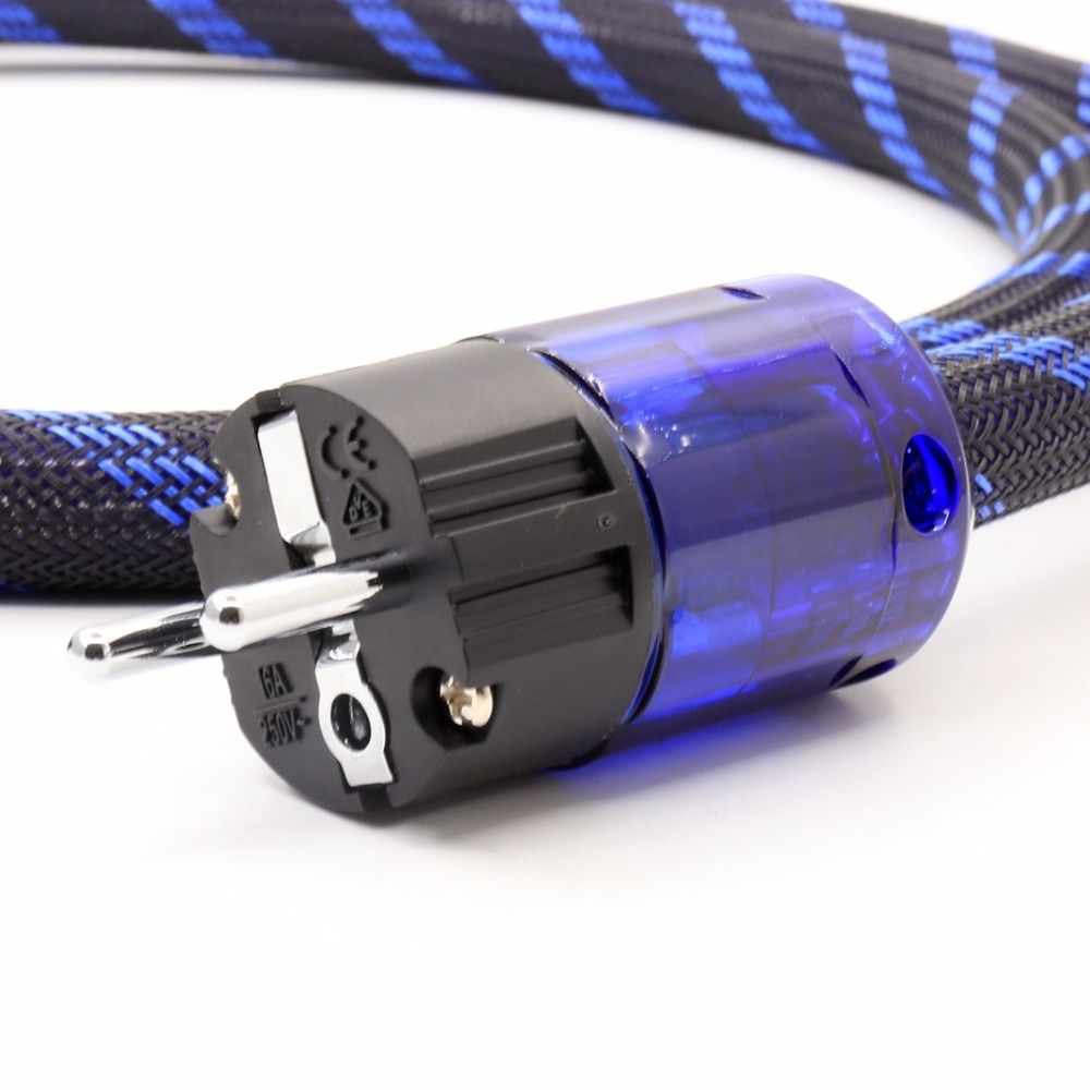 OEM Power cable 4n OFC EU/US/UK Rhodium /Gold plated Hi-End Hifi Audio Power Cable Power Cord