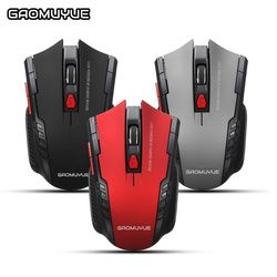 GAOMUYUE 2.4Ghz Wireless Mice Gaming Mouse USB Optical 2000DPI Adjustable Professional 6 Buttons Game Mouse  For PC Laptop A4