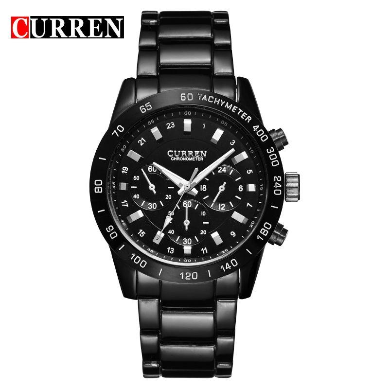 CURREN Men Watches Top Brand Luxury Men Military Wristwatches Full Steel Men Sports Waterproof Watch Relogio Masculino 8017