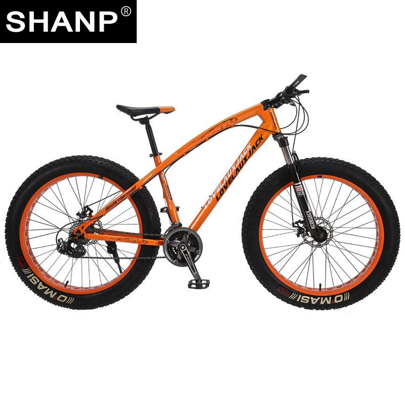 LOVELAUXJACK Mountain Bike Steel Frame 24 Speed Shimano Disc Brakes 26