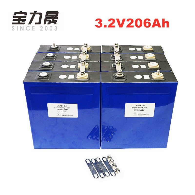 12Pcs 3,2 V 200AH 206AH 3C 600A lifepo4 Batterie zellen 12v200ah 24v200ah für 12v Solar UNS/EU steuer Freies UPS oder FedEx freies verschiffen