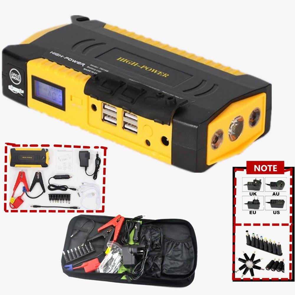 Mini portable car jump starter multi function diesel power bank bateria battery 12V peak car charger auto start booster