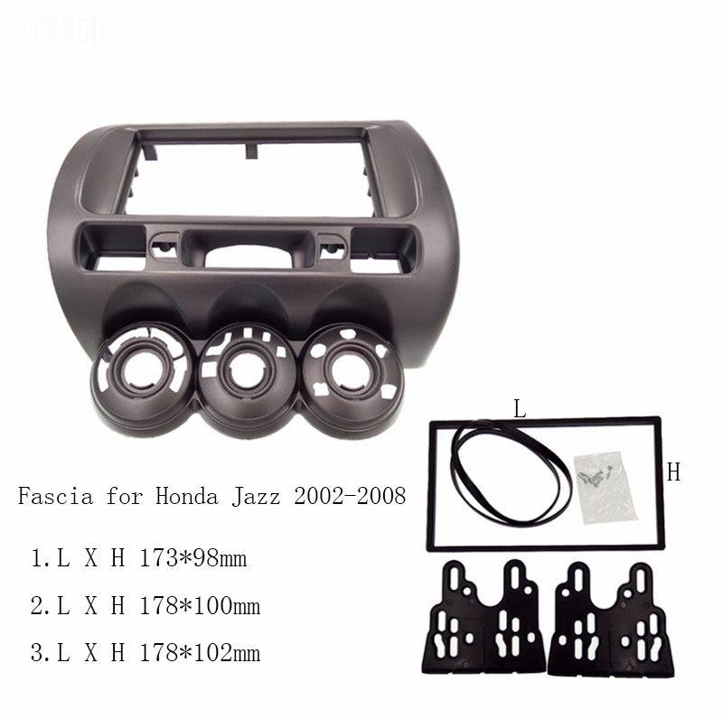 Auto Fascia fit für Honda Jazz Eine 2 Din Radio DVD Stereo CD Panel Mount Installation Trim Kit Rahmen Lünette, manuelle AC LHD/RHD