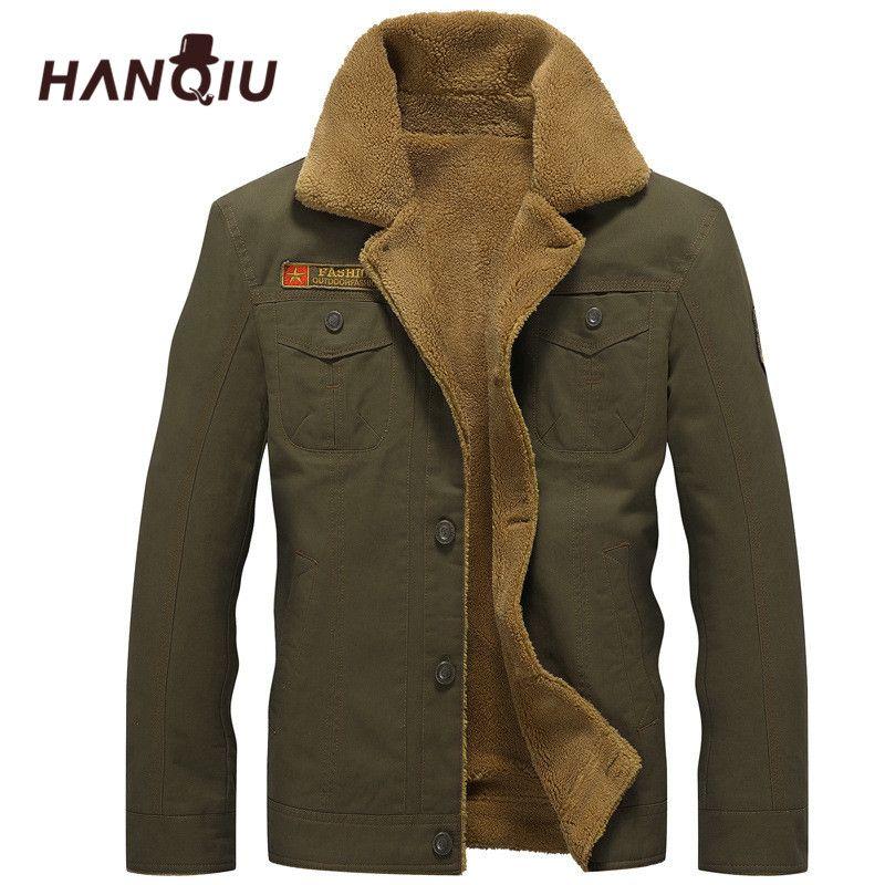 2018 Winter Bomber Jacket Men Air Force Pilot MA1 Jacket Warm Male fur collar Mens Army Tactical Fleece Jackets Drop Shipping