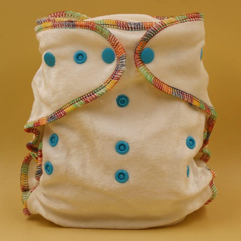 Envío libre pororo 4 populares colores talla única bebé de bambú de algodón orgánico pañal equipada, pañal de algodón natural pañales