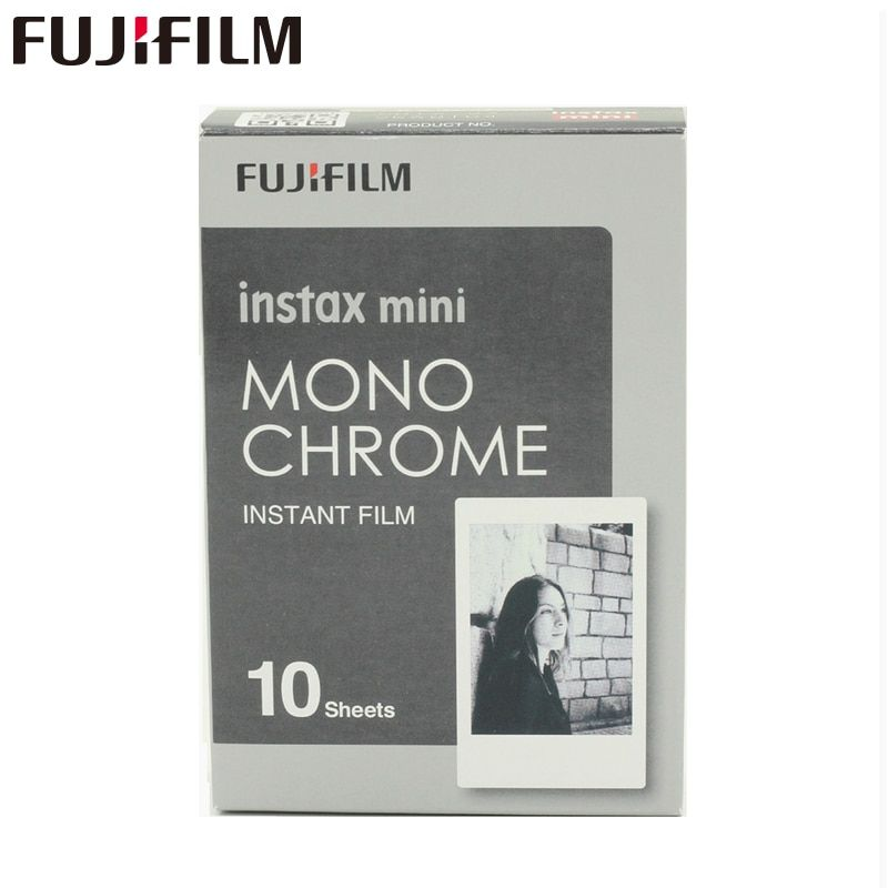 Original Fujifilm Fuji Instax Mini 8 Monochrome Film 10 Sheets For 7 7s 8 9 50s 7s 90 25 Share SP-1 <font><b>Instant</b></font> Cameras New arrive