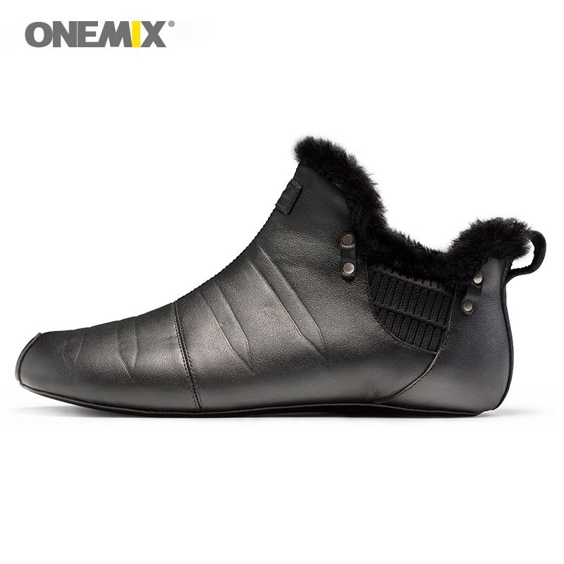 Onemix warm keeping walking shoes for men indoor shoes no glue environmentally friendly outdoor trekking walking shoes slippers