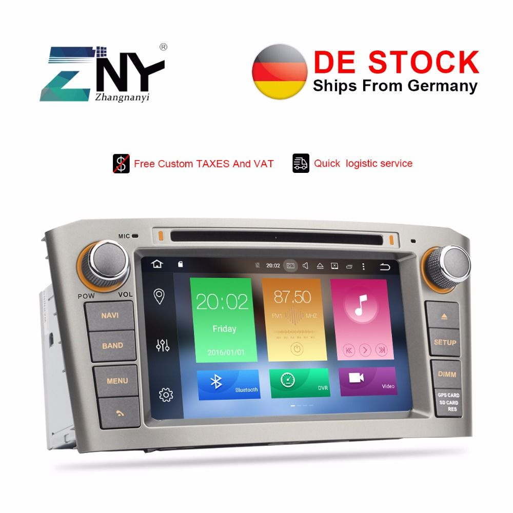 Free tax Autoradio stereo 2 Din For Avensis T25 2003 2004 2005 2006 2007 2008 Android 8.0 Car DVD Player GPS Navigation 4GB+32GB