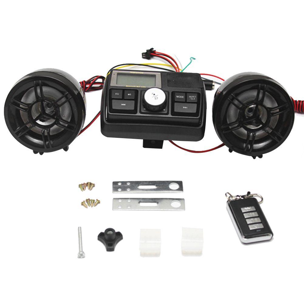 Motorcycle MP3 Player Motobike Alarm Audio Speaker Alarm System Theft MP4 Player TF Card USB AUX Moto FM Radio Stereo Amplifier