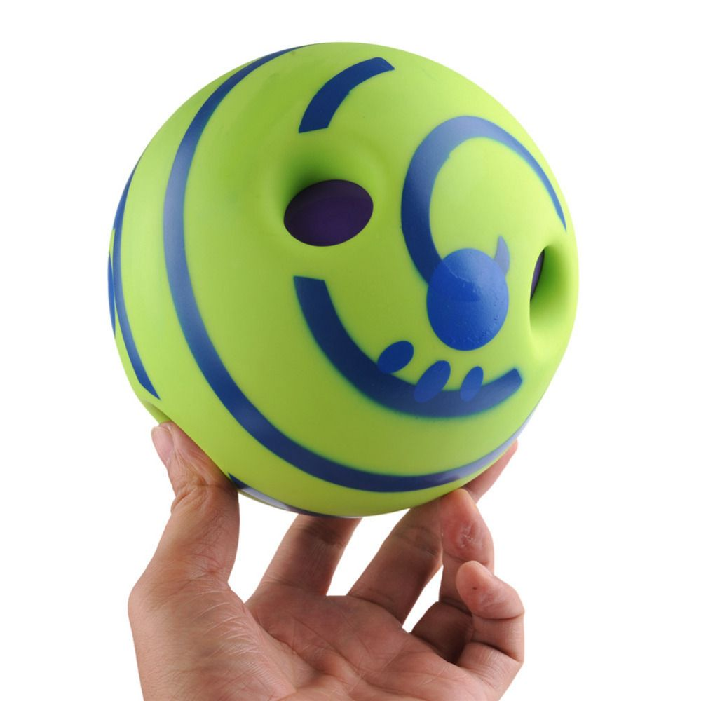 Wobble Wag Giggle Ball Dog <font><b>Play</b></font> Ball Trainer Balls with Funny Sound Keeps Dogs Happy All Day Dog Toy