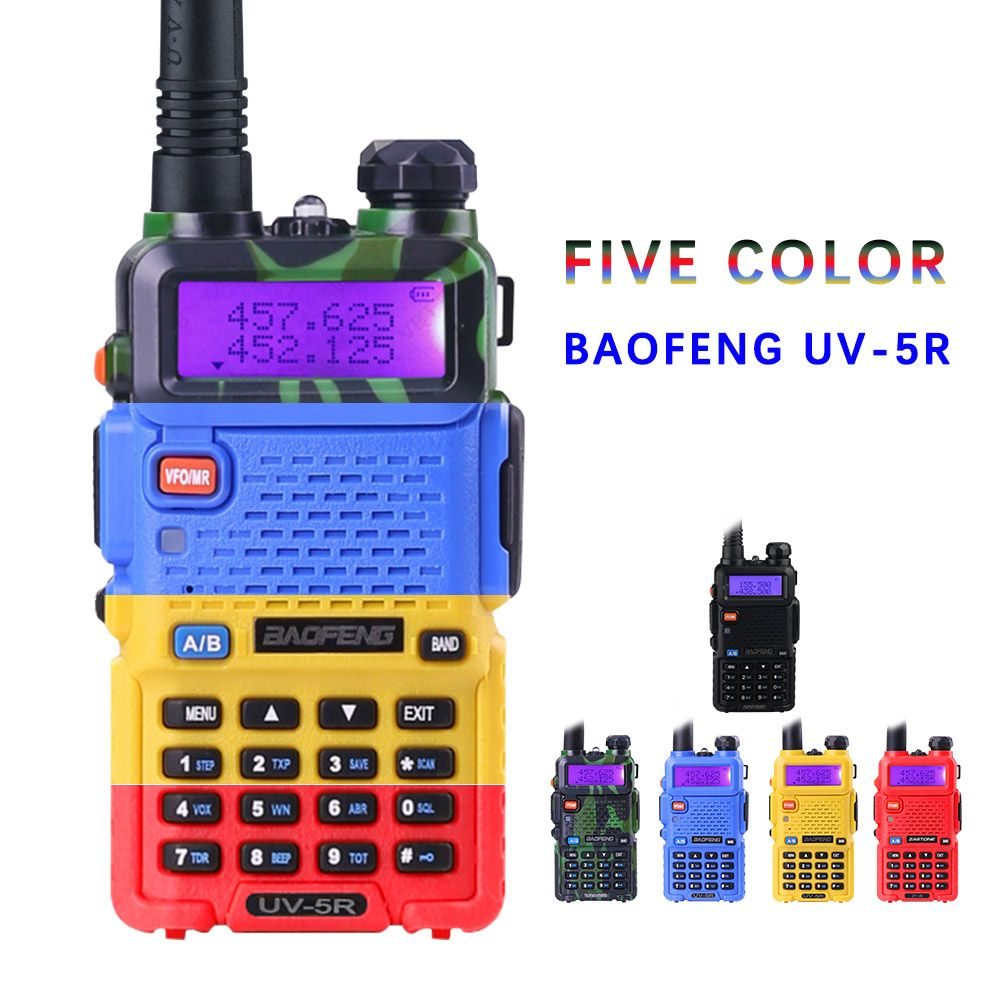 BaoFeng UV-5R <font><b>Walkie</b></font> Talkie Professional CB Radio Baofeng UV5R Transceiver 128CH 5W VHF&UHF Handheld UV 5R For Hunting Radio
