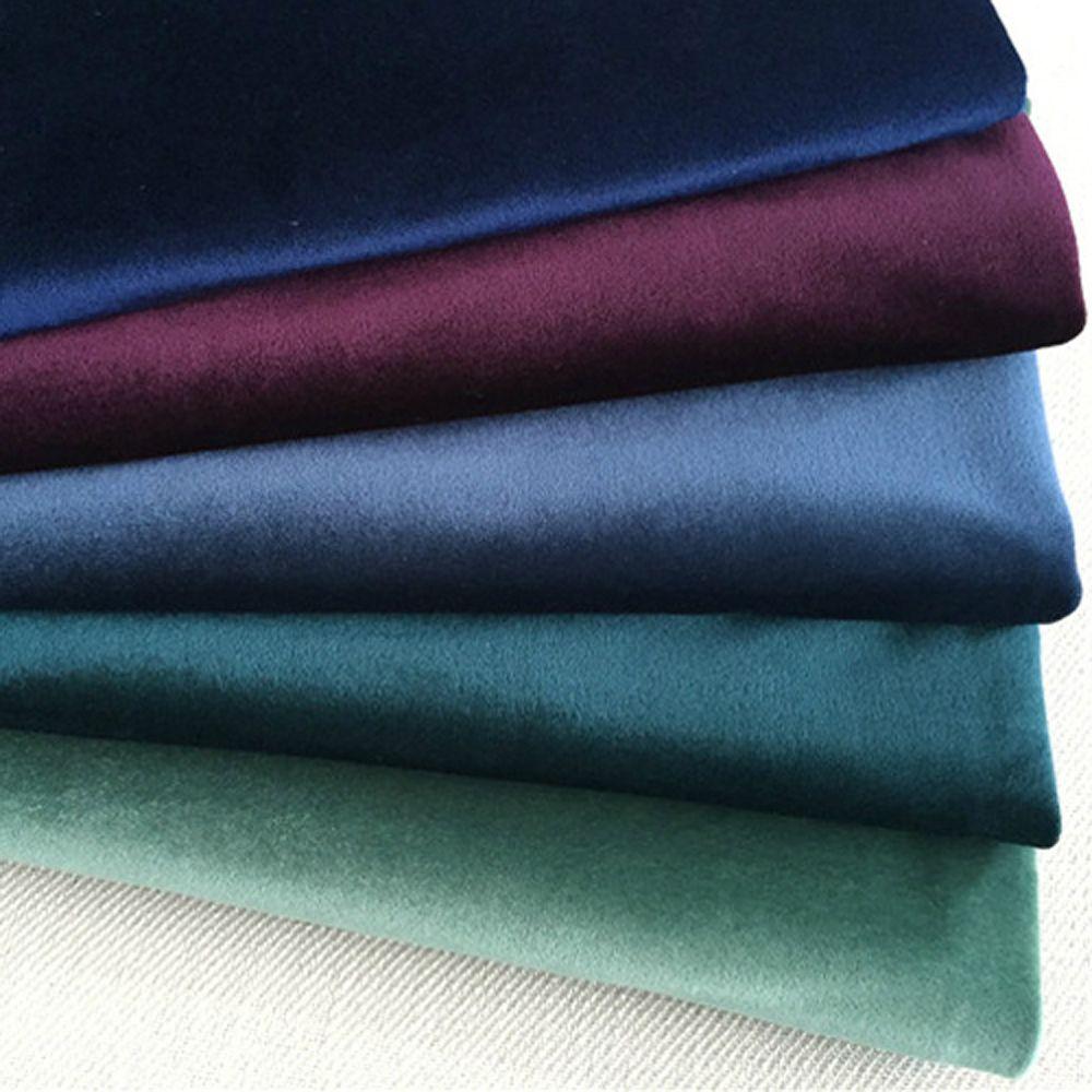ESSIE HOME 140 CM tissu velours de soie tissu velours Pleuche nappe housse de Table tissu d'ameublement rideau rouge bleu marron vert