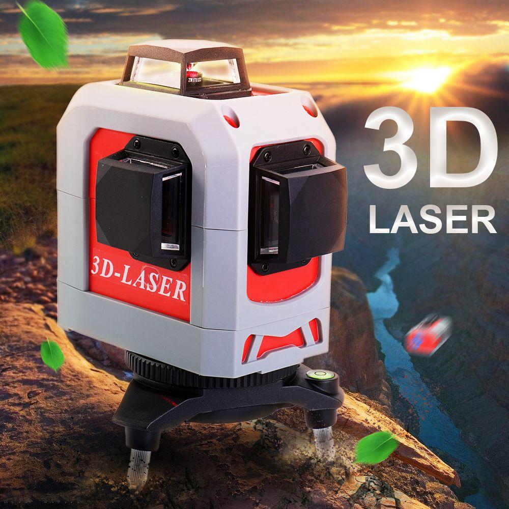 3D Leveler Professional laser <font><b>level</b></font> 360 Super Powerful Laser Leveling Tool Tripod Construction tool nivel laser