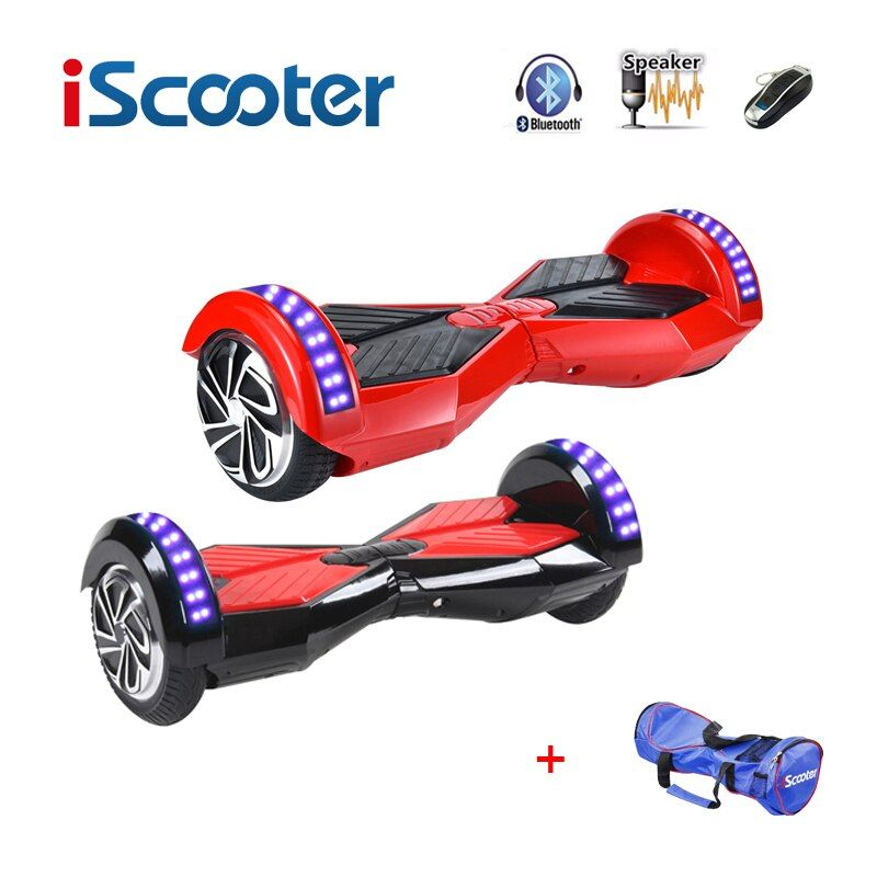 IScooter hoverboard bluetooth 8 zoll 2 Zwei Rad Selbstabgleich elektrische Roller Hover Boards Smart balance Rad LED-Licht