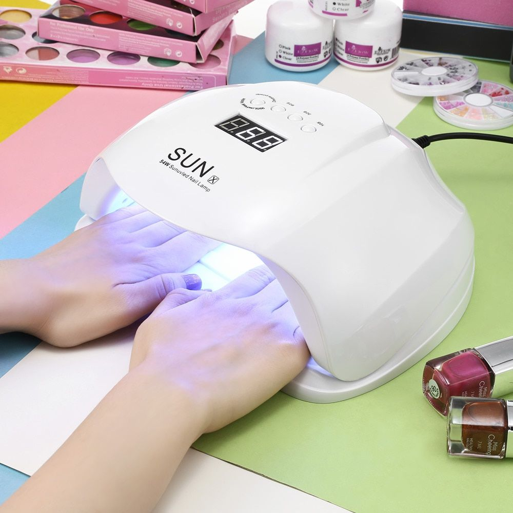 SUN X 48/54W Nail Dryer UV LED <font><b>Lamp</b></font> LCD Display 36 LEDs Nail Dryer <font><b>Lamp</b></font> For Curing Gel Polish Auto Sensing Nail Manicure Tools