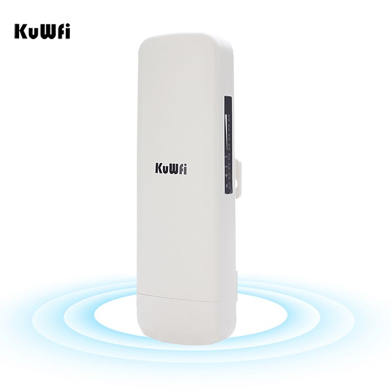 Kuwfi 3Km Wireless Bridge 2.4GHz 300Mbps High Power Wifi CPE Router Wifi Repeater Wifi Extender Access Point For Wireless Camera
