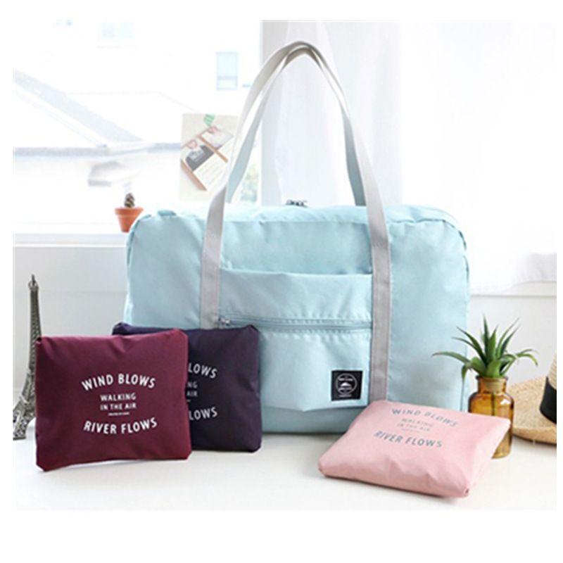 Safe Waterproof Nylon Travel Bags Women Men Large Capacity Folding Duffle Bag Organizer Packing Cubes Luggage Girl Weekend Bag