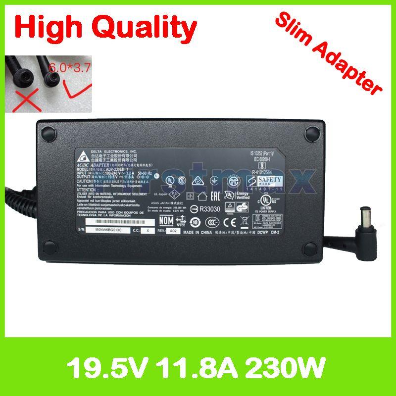 Schlank 19,5 V 11.8A laptop ladegerät für Asus ROG Strix GL702VS GL702ZC GL702V ADP-230GB B ADP-230EB T Gaming Laptop AC power adapter