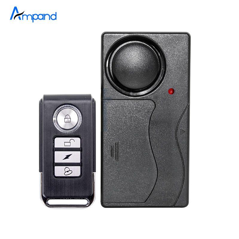 De seguridad de Alarma Vibration Control Remoto Inalámbrico Puerta/Ventana Detector Antirrobo