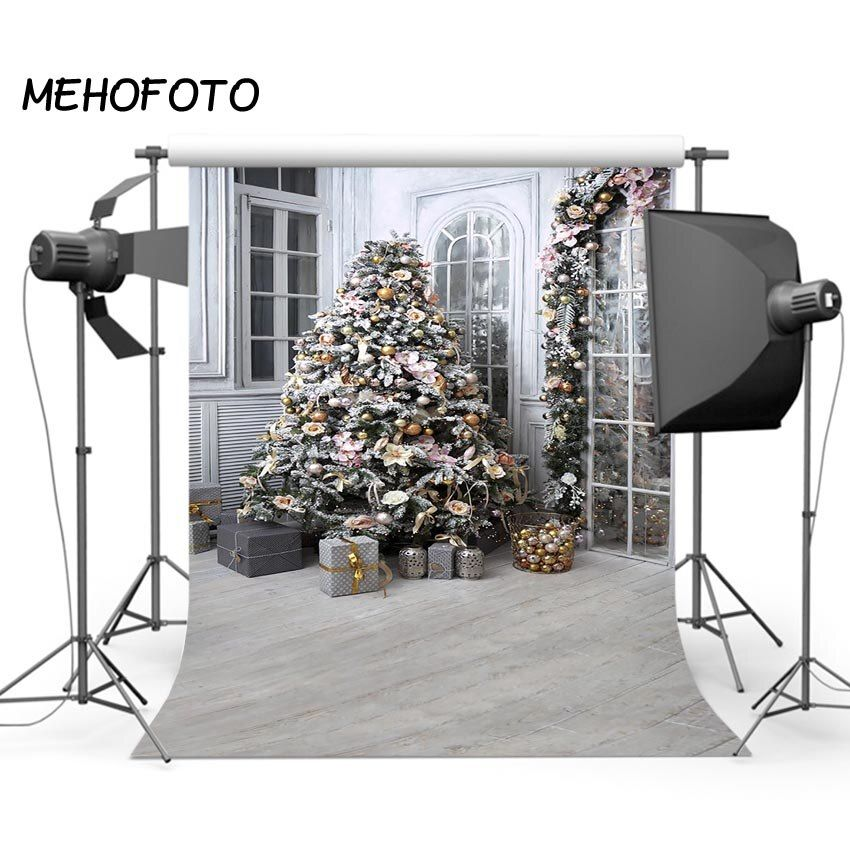 Christmas Tree Photography Backdrop for Child Gift Photo Background Home Decoration Print Photo Booth Photographic Backdrops