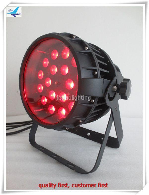 2pcs/lot 18x18w Outdoor ZOOM Led Stage Par Light DMX RGBWA UV 6in1 Aluminum Par Can Luce IP65 Show Par Wash DJ Party Lighting