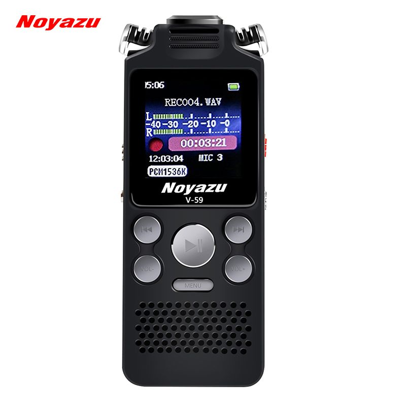 NOYAZU V59 16G Dual Microphone Digital Voice Recorder Pen Professional Dictaphone MP3 Player Sound Recorder Business Gifts